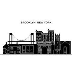 Usa brooklyn new york architecture city vector
