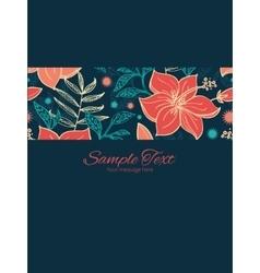 Vibrant tropical hibiscus flowers stripe vector