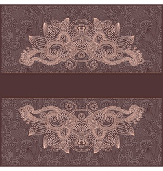 vintage floral template vector image vector image