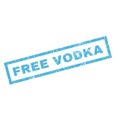 Free vodka rubber stamp vector