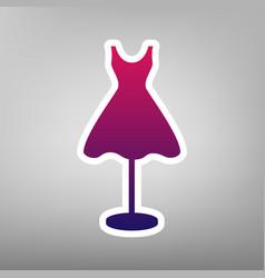 Mannequin with dress sign  purple gradient vector