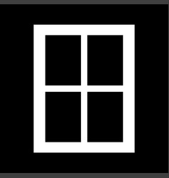Window it is the white color icon vector