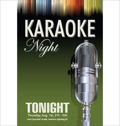 Karaoke poster background vector