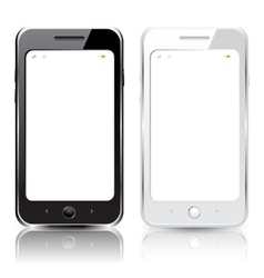 Black and white smartphones vector