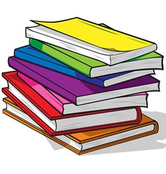 Pile of colorful books vector