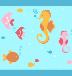 Undersea animals vector