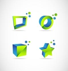 Company 3d logo vector