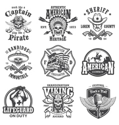 Set of vintage lifestyle emblems vector