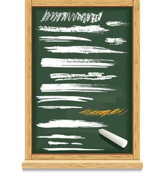 Brush strokes of chalk on a blackboard vector