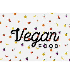 Vegan food design with colorful fruit elements vector