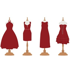 Cocktail and evening dresses vector