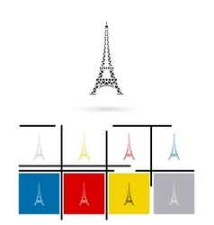 Eiffel tower in paris icon vector