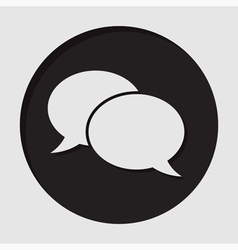 Information icon - speech bubbles vector