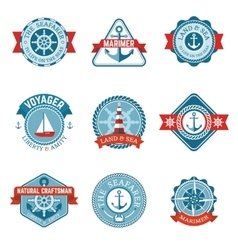 Nautical label set vector