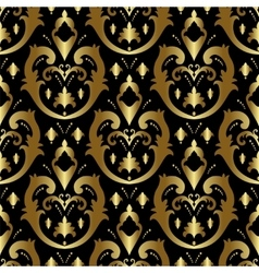 Gold ornament in victorian style vector