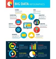 Big data infographics vector