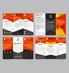 Brochure template set vector