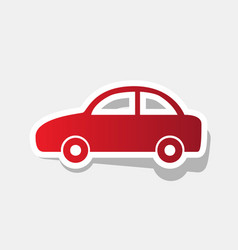 Car sign new year reddish vector