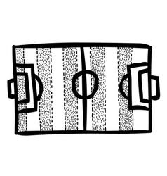 Cartoon image of football field vector