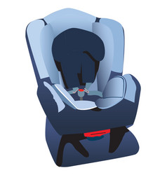 childs car seat vector image vector image