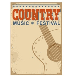 Country music festival background with text old vector image