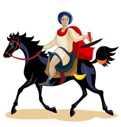 Equestrian of the ApocalypseHunger vector image vector image