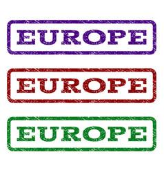 europe watermark stamp vector image vector image