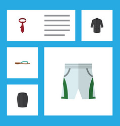 flat icon dress set of uniform trunks cloth vector image