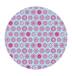 Flowers in circle pattern vector