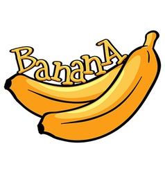Font design with word banana vector