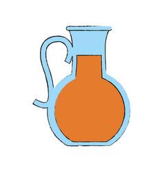 fruit juice jug glass icon image vector image