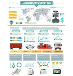 Global logistics infographics vector