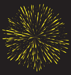 glowing collection firework light effects vector image