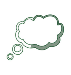 Green think bubble vector