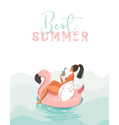 Hand drawn abstract fun summer time vector