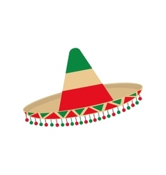 Hat accesory mexican culture icon graphic vector