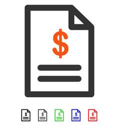 Invoice flat icon vector