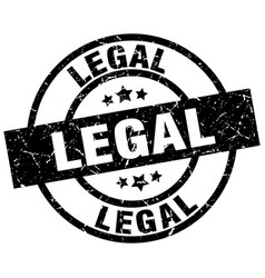 Legal round grunge black stamp vector