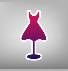 Mannequin with dress sign purple gradient vector
