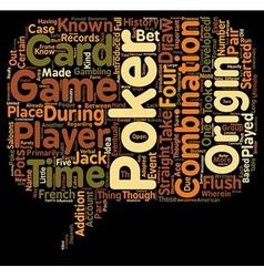 Poker text background wordcloud concept vector
