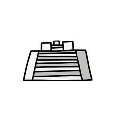 pyramid cartoon icon vector image vector image