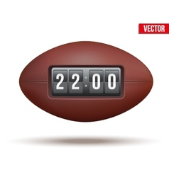 Rugby ball with score of the game vector image
