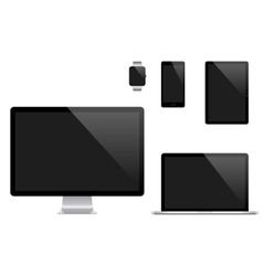 set of Modern Digital devices Computer vector image