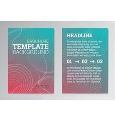 Set of poster brochure design templates in green vector