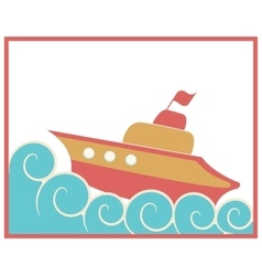 Toy ship vector image