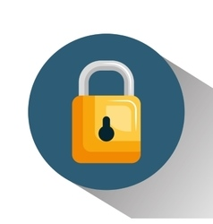 Security symbol padlock isolated icon vector