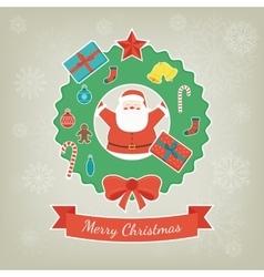 Merry christmas greeting card christmas design vector