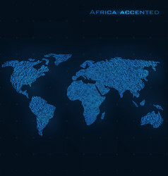 World abstract map africa accented vector