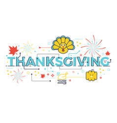 Thanksgiving holiday concept vector