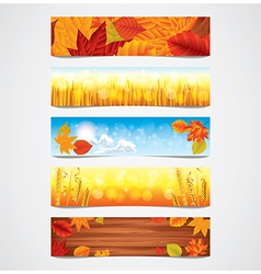 banners autumn vector image